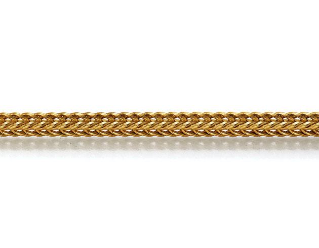 Produktbild Goldkette Fuchsschwanz vierkant